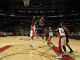Chicago Bulls v Toronto Raptors: Joey Dorsey and Carlos Boozer Photographic Print by Ron Turenne