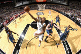 Minnesota Timberwolves v San Antonio Spurs: George Hill Photographic Print by D. Clarke Evans