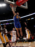 Golden State Warriors v Los Angeles Lakers: Vladimir Radmanovic Photographic Print by Stephen Dunn