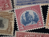 Classic United States Postage Stamps Photographic Print by Phil Schermeister