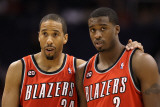 Portland Trail Blazers v Phoenix Suns: Andre Miller and Wesley Matthews Photographic Print by Christian 