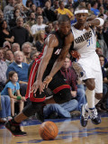 Miami Heat v Dallas Mavericks: Dwyane Wade and Jason Terry Photographic Print by Glenn James
