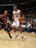 Chicago Bulls v Toronto Raptors: Keith Bogans and DeMar DeRozan Photographic Print by Ron Turenne