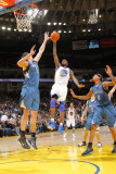 Minnesota Timberwolves v Golden State Warriors: Dorell Wright and Darco Milicic Photographic Print by Rocky Widner