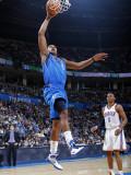 Dallas Mavericks v Oklahoma City Thunder: Caron Butler and Russell Westbrook Photographic Print by Layne Murdoch