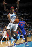 Detroit Pistons v New Orleans Hornets: Trevor Ariza and Ben Wallace Photographic Print by Layne Murdoch