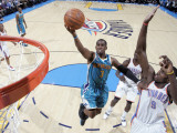 New Orleans Hornets v Oklahoma City Thunder: Chris Paul and Serge Ibaka Photographic Print by Layne Murdoch