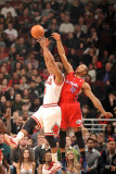 Los Angeles Clippers v Chicago Bulls: Keith Bogans and Eric Gordon Photographic Print by Randy Belice