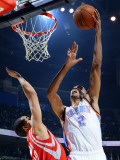 Houston Rockets v Oklahoma City Thunder: Thabo Sefolosha and Kevin Martin Photographic Print by Larry W. Smith