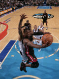 Miami Heat v Dallas Mavericks: Dwyane Wade and Tyson Chandler Photographic Print by Glenn James