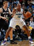San Antonio Spurs v New Orleans Hornets: David West and Matt Bonner Photographic Print by Layne Murdoch