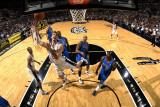 Dallas Mavericks v San Antonio Spurs: Tiago Splitter, Shawn Marion and Jason Terry Photographic Print by D. Clarke Evans