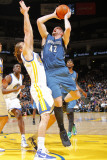 Minnesota Timberwolves v Golden State Warriors: Kevin Love and Lou Amundson Photographic Print by Rocky Widner