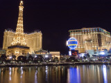 Reflections of Las Vegas Boulevard, the Strip, and the Paris Casino Fotoprint van Rich Reid