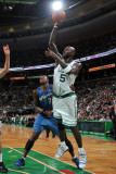 Washington Wizards v Boston Celtics: Kevin Garnett and JaVale McGee Photographic Print by Brian Babineau
