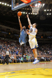 Minnesota Timberwolves v Golden State Warriors: Corey Brewer and Vladimir Radmanovic Photographic Print by Rocky Widner