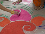 Drawings Made with Powder are Designed on the Floor for Diwali Photographic Print by Jodi Cobb