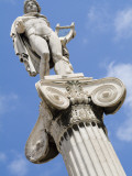 A Statue of Apollo on a Column Outside the Academy of Athens Photographic Print by Richard Nowitz