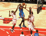 Oklahoma City Thunder v Chicago Bulls: Kevin Durant, Luol Deng, Taj Gibson and Carlos Boozer Photographic Print by Joe Murphy