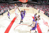 Sacramento Kings v Houston Rockets: Chase Budinger and Carl Landry Photographic Print by Bill Baptist