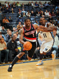 Portland Trail Blazers v Memphis Grizzlies: Wesley Matthews and Mike Conley Photographic Print by Joe Murphy