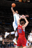 Los Angeles Clippers v Denver Nuggets: J.R. Smith and Blake Griffin Photographic Print by Garrett Ellwood