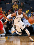 Portland Trail Blazers v Memphis Grizzlies: Mike Conley Photographic Print by Joe Murphy
