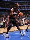 Miami Heat v Orlando Magic: Chris Bosh Photographic Print by Fernando Medina