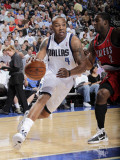 Portland Trail Blazers v Dallas Mavericks: Caron Butler and Wesley Matthews Photographic Print by Glenn James