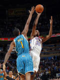 New Orleans Hornets v Oklahoma City Thunder: Kevin Durant and Trevor Ariza Photographic Print by Layne Murdoch