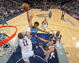Washington Wizards v New Jersey Nets: Nick Young and Brook Lopez Photographic Print by David Dow