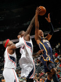 Indiana Pacers v Atlanta Hawks: Josh Smith, Marvin Williams and Danny Granger Photographic Print by Kevin Cox