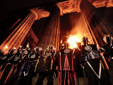 A Performance at the Annual Beltane Fire Festival on Calton Hill Photographic Print by Jim Richardson