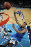 Dallas Mavericks v New Orleans Hornets: Tyson Chandler, Emeka Okafor and Chris Paul Photographic Print by Layne Murdoch