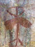 A Chumash Indian Pictograph Above a Cave Entrance Photographic Print by Rich Reid