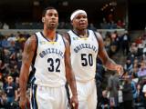 Charlotte Bobcats v Memphis Grizzlies: O.J. Mayo and Zach Randolph Photographic Print by Joe Murphy