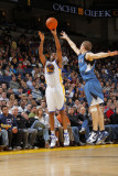 Minnesota Timberwolves v Golden State Warriors: Reggie Williams and Luke Ridnour Photographic Print by Rocky Widner