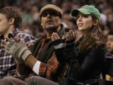 New Jersey Nets v Boston Celtics: Rick Fox and Eliza Dushku Photographic Print by  Elsa