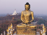 A Gilded Buddha Statue Photographic Print by Alison Wright
