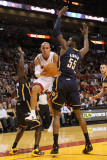 Indiana Pacers v Miami Heat: Carlos Arroyo and Roy Hibbert Photographic Print by Mike Ehrmann