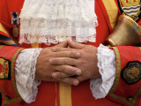 Close of Of the Dartmouth Town Crier's Hands Photographic Print by Jim Richardson