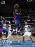 Detroit Pistons v Dallas Mavericks: Rodney Stuckey and Jason Kidd Photographic Print by Danny Bollinger