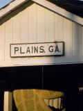 The Railroad Station Sign for Plains, Georgia Photographic Print by Jodi Cobb