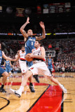 Minnesota Timberwolves v Portland Trail Blazers: Michael Beasley and Rudy Fernandez Photographic Print by Sam Forencich