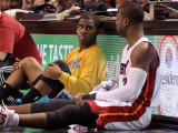 New Orleans Hornets v Miami Heat: Dwyane Wade and Chris Paul Photographic Print by Mike Ehrmann