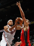New Jersey Nets v Atlanta Hawks: Etan Thomas and Brook Lopez Photographic Print by Kevin Cox
