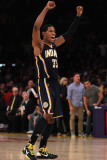 Indiana Pacers v Los Angeles Lakers: Danny Granger Photographie par Jeff Gross