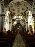 The Interior of the Dominican Monastery Church of Ocotlan De Morelos Photographic Print by Raul Touzon