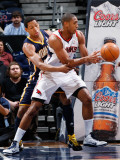 Indiana Pacers v Atlanta Hawks: Al Horford and Danny Granger Photographic Print by Kevin Cox