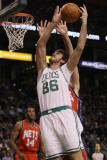 New Jersey Nets v Boston Celtics: Semih Erden Photographic Print by Elsa .